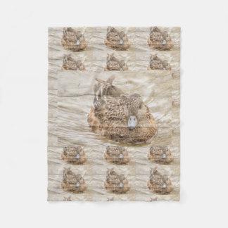 Cobertor De Velo Pato selvagem da lagoa do woodgrain da casa do