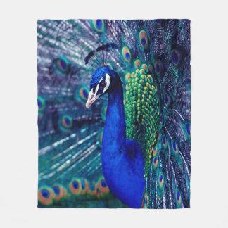 Cobertor De Velo Pavão azul