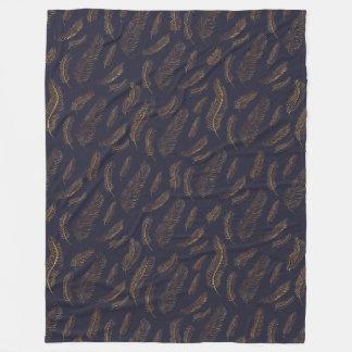 Cobertor De Velo Pena do índigo e do ouro