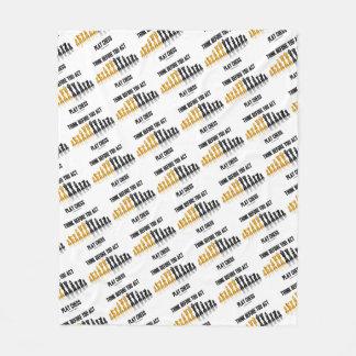 Cobertor De Velo Pense antes que você xadrez reflexiva da xadrez do