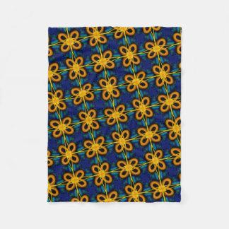 Cobertor De Velo Pequena cobertura polar de azul e amarelo