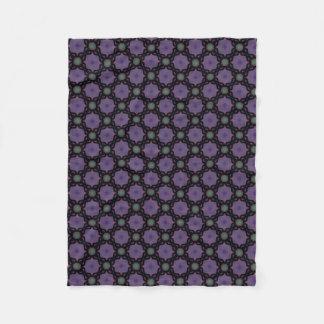 Cobertor De Velo Pequena cobertura polar lilás e preta