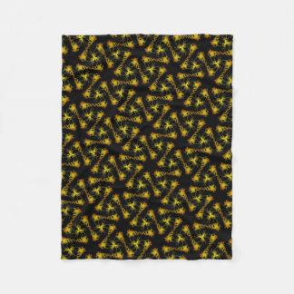 Cobertor De Velo Pequena cobertura polar preta e cor de laranja