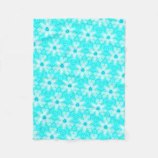 Cobertor De Velo Pequena cobertura polar turquesa e branca