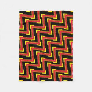 Cobertor De Velo Pequena cobertura polar vermelha preto e amarelo
