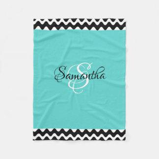 Cobertor De Velo Personalizado com seus nome & inicial -