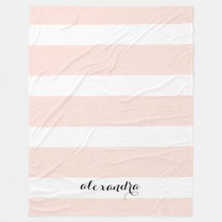 Cobertor De Velo Personalizado coram as listras cor-de-rosa e