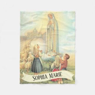 Cobertor De Velo Personalizou nossa senhora de Fatima