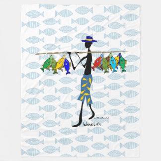 Cobertor De Velo Pescador com os peixes no ombro