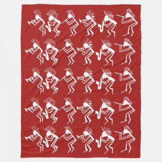 Cobertor De Velo Petroglyph do jogador do chifre e de flauta de