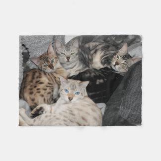 Cobertor De Velo Pilha do gatinho do gato de Bengal