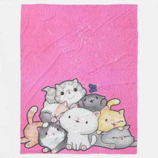 Cobertor De Velo Pilha dos gatinhos