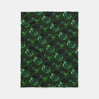Cobertor De Velo Pingo de chuva do vidro verde