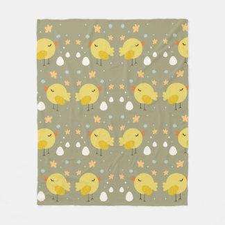 Cobertor De Velo Pintinhos bonitos da páscoa e teste padrão pequeno