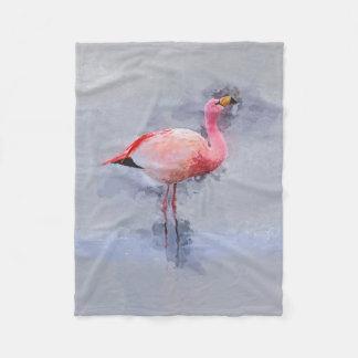 Cobertor De Velo Pintura cor-de-rosa do flamingo