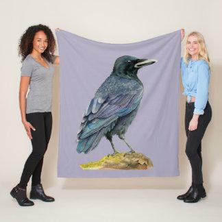Cobertor De Velo Pintura da aguarela do corvo