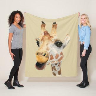 """Cobertor De Velo Pintura da aguarela do girafa da """"mastigação"""""""