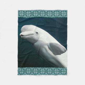 Cobertor De Velo Pintura da baleia da beluga