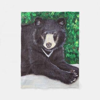 Cobertor De Velo Pintura do urso preto