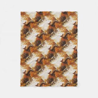 Cobertor De Velo Pintura dos cervos