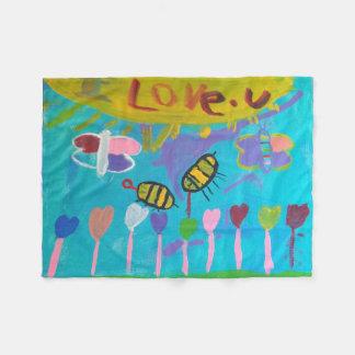 Cobertor De Velo Pintura dos miúdos