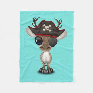 Cobertor De Velo Pirata bonito da rena do bebê