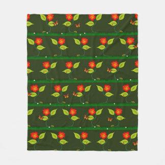 Cobertor De Velo Plantas e flores