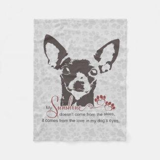 Cobertor De Velo Poema do cão da chihuahua