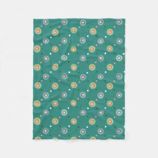 Cobertor De Velo Polca verde e alaranjada pontilhada
