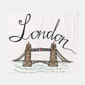 Cobertor De Velo Ponte indicada por letras de Londres da mão