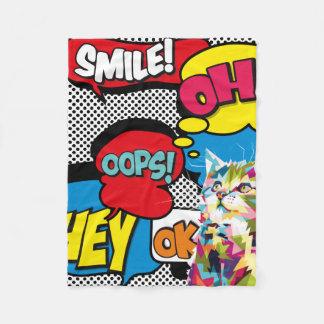 Cobertor De Velo Pop art icónico da esperança cómica colorida do