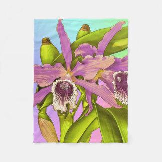 Cobertor De Velo Pop da orquídea