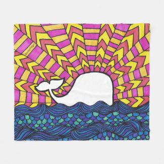 Cobertor De Velo Por do sol da baleia