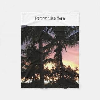 Cobertor De Velo Por do sol da palmeira
