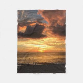 Cobertor De Velo Por do sol da praia