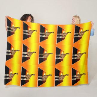 Cobertor De Velo Por do sol dourado do girafa, grande