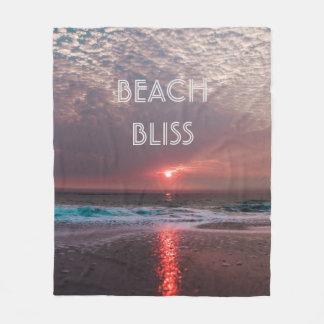 Cobertor De Velo Por do sol tropical do paraíso da felicidade da