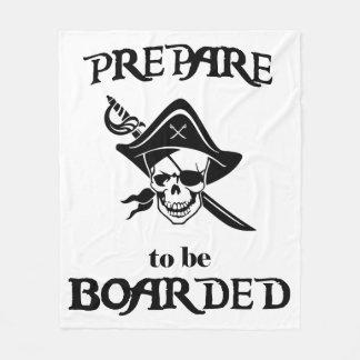 Cobertor De Velo Prepare para ser crânio e espada pretos embarcados