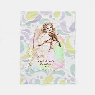 Cobertor De Velo Presentes bonitos do Goddaughter do anjo
