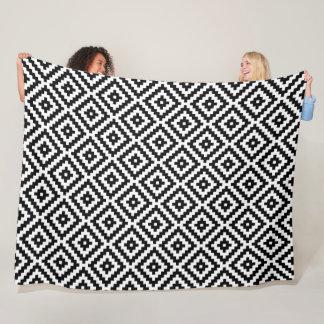 Cobertor De Velo Preto asteca & branco do Rpt Ptn do bloco do