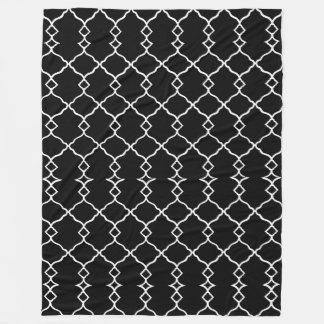 Cobertor De Velo Preto-Branco-Geo-Diamante-Velo-Lg