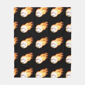 Cobertor De Velo Preto do basebol