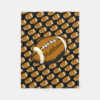 Cobertor De Velo Preto do futebol dos esportes e cobertura do velo
