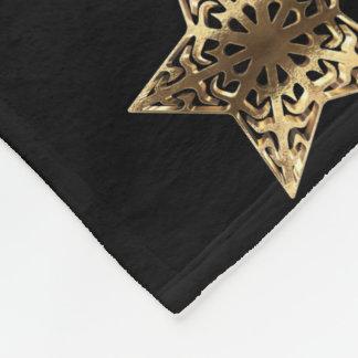 Cobertor De Velo Preto dourado e ouro do teste padrão listrado da