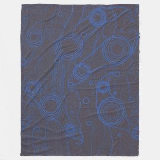 Cobertor De Velo Preto e azul