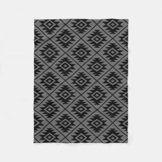 Cobertor De Velo Preto estilizado do teste padrão do símbolo asteca