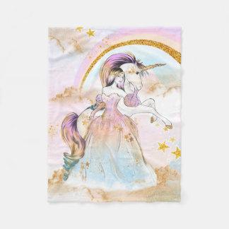 Cobertor De Velo Princesa Cobertura do unicórnio