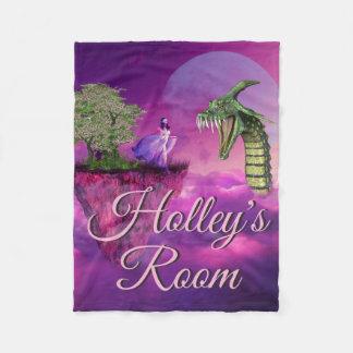 Cobertor De Velo Princesa Floating Ilha Lua Personalized do dragão