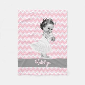 Cobertor De Velo Princesa Personalized Cor-de-rosa Viga Berçário da