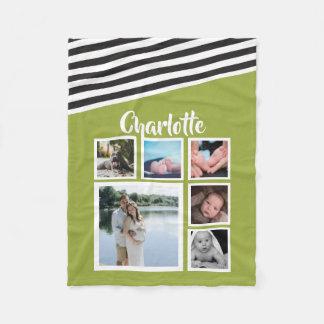 Cobertor De Velo Projete seu próprio listrado verde-claro